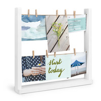 Umbra® Hangit Desk Photo Frame Display in White