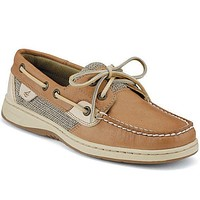 Women's Bluefish 2-Eye Boat Shoe in Linen Oat by Sperry - FINAL SALE