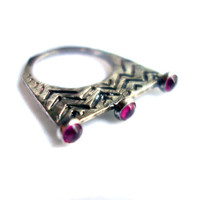 Triple Crown- Sterling Silver and Ruby Version
