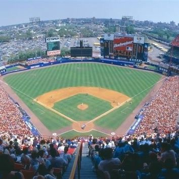 Shea Stadium  NY Mets v. SF Giants  New York Poster Print (27 x 9)