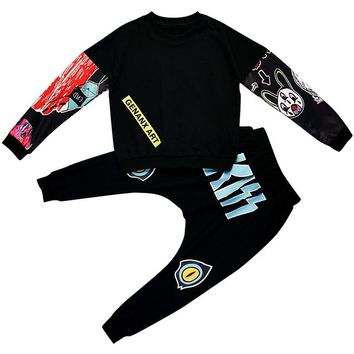 Clothing Sets For Boys Girls Teen Clothing Hip Hop Dance Costumes Kids Christmas Costume Carnival Fashion Child Clothes Suits