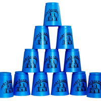 DIAN SHENG DS-25 12 Piece Flyingcup Speed Stacks (Blue)