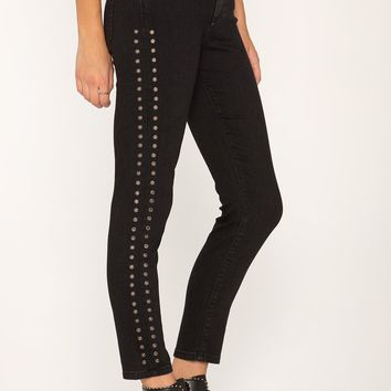 Miss Me Ankle Skinny with Side Detail