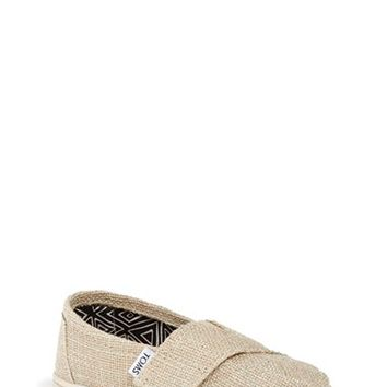 Girl's TOMS 'Classic Tiny - Glimmer' Slip-On,