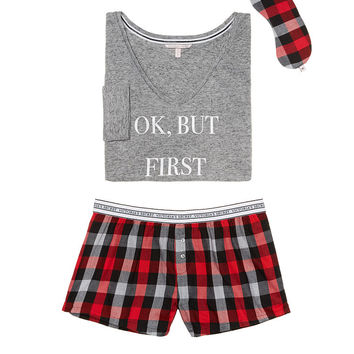 Dreamer Flannel Boxer PJ - The Dreamer Flannel Collection - Victoria's Secret