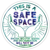 'Safe Space' Sticker by eviebookish