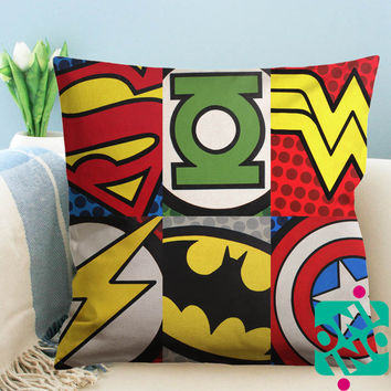 Superhero Logo Zippered Pillow Case, Cushion Case, Pillow case