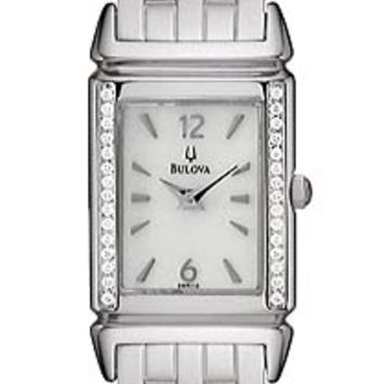 Bulova 96R113 Women's Quartz Diamond Bezel Watch
