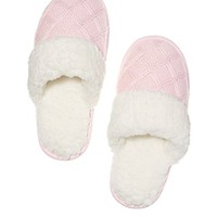 Victoria's Secret The Embroidered Cozy Slipper Angel Pink (Small (5-6))