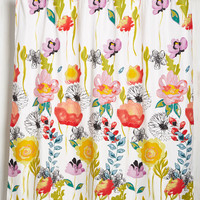 Head, Shoulders, Breeze, and Rose Shower Curtain | Mod Retro Vintage Bath | ModCloth.com