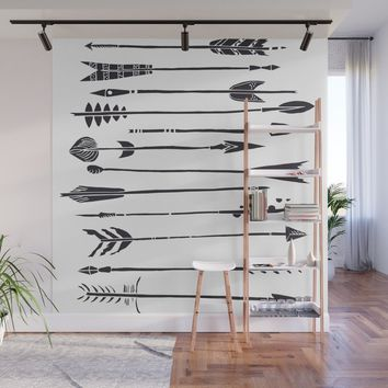 Narrow Boho Arrows Wall Mural by allisone