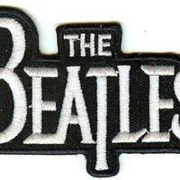 The Beatles Iron-On Patch White Letters Logo