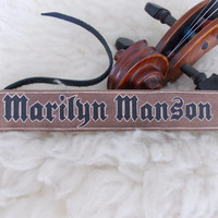Marilyn Manson carved bracelet