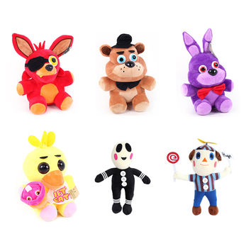 Hot Sale Five Nights At Freddy FNAF Fox Bear Bonnie Toys Plush Pendants Keychains Dolls Gift for Kids Peluche Anime 6 Styles