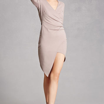Surplice Front Mini Dress