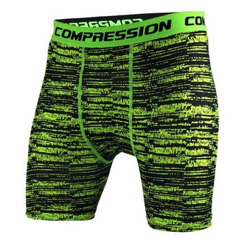 Men's Bodyboulding Compression Shorts Pants Professional Fitness quick-drying Short Pants men's Camouflage Short Pants
