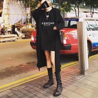 Balenciaga Casual Fashion Long Sleeve Long Section Hooded  Cardigan Jacket Coat