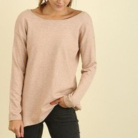 Willow Cross-Back Blush Knit Sweater