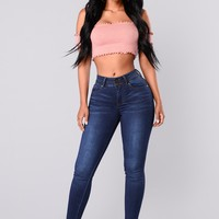 Amadi Ankle Jeans - Dark Wash