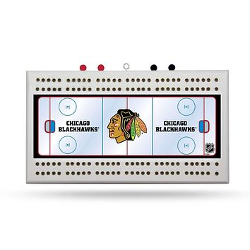 CHICAGO BLACKHAWKS FIELD CRIBBAGE BOARD
