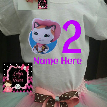 Personalized Sheriff Callie outfit, personalized birthday shirt , Sheriff Callie shirt, Sheriff Callie birthday outfit, Sheriff Callie