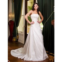 taffeta elegant wedding dress