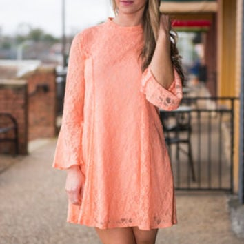 The Julia Dress, Peach Echo