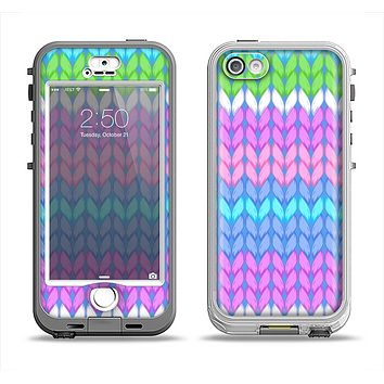 The Bright-Colored Knit Pattern Apple iPhone 5-5s LifeProof Nuud Case Skin Set