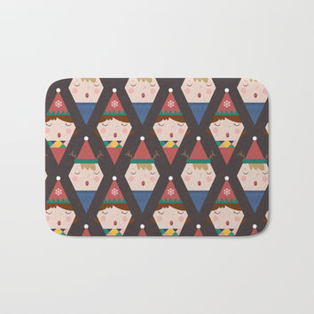 Day 25/25 Advent - a Christmas Carol Bath Mat by lalainelim