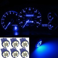 Partsam 6x Bright Blue Instrument Speedometer Gauge Cluster 12V T10 LED Dash Light Bulb