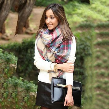 Cashmere Scarf Winter Outdoors Accessory Apparel [280546803753]