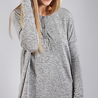 go-to button swing top - heather grey