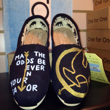 Champion Hunger Games Inspired Custom TOMS