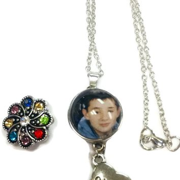 Personalized Photo Snap Pendant on Mom Necklace With Extra 18MM - 20MM Snap Jewelry Charms New Item
