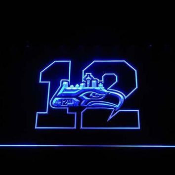 VONE05O cm018 Seattle Seahawks 12th Man LED Neon Sign