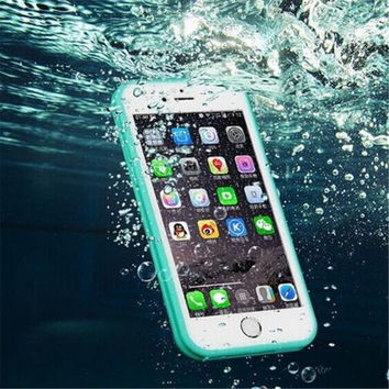 Waterproof iPhone 5s 6 6s Plus Case Beach Holiday Cover Free Shipping
