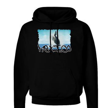 Mexico - Whale Watching Cut-out Dark Hoodie Sweatshirt