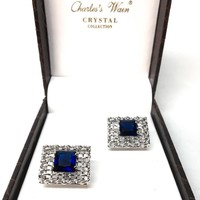 Charle`s Wain Crystal Collection Cuff Links
