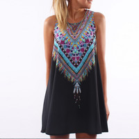 Colorful Dream Catcher Tank Top Dress