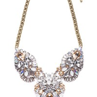 Rainbow Fortune Statement Necklace in Gold - Happiness Boutique