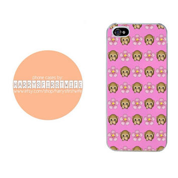 Monkey and Flower Emoji iPhone 4/4s 5/5s/5c/6/6 plus iPod 4/5 & Galaxy S5 Case