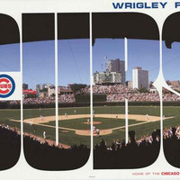 Chicago Cubs Wrigley Field Poster 22x34