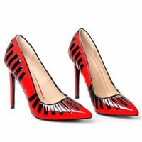 Red Classic Pointed Toe Pumps