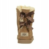 UGG Australia Girl's Bailey Bow Chestnut Sheepskin Boot 1 M US