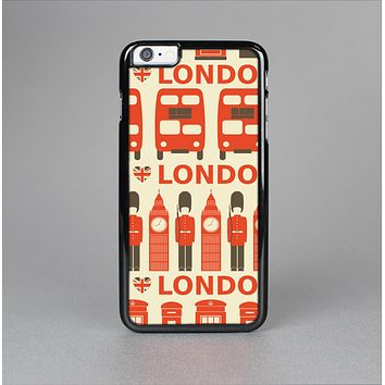 The Vector Tan and Red London Skin-Sert for the Apple iPhone 6 Plus Skin-Sert Case