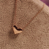 Sweet Lovely Golden Heart Necklace,.. on Luulla