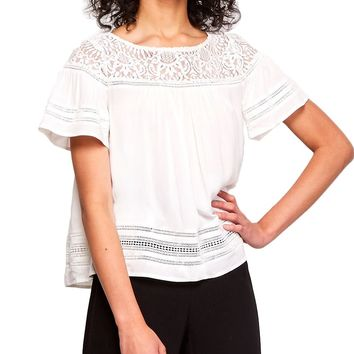 Penny Lace Short Sleeve Top