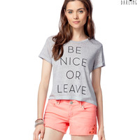 Aeropostale  Tokyo Darling Be Nice Graphic T