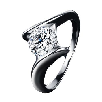 Clear AAA Cubic Zirconia Ring