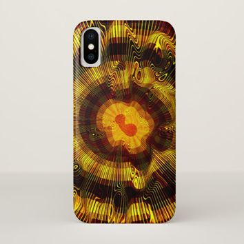 Yellow Gold Spiral iPhone X Case